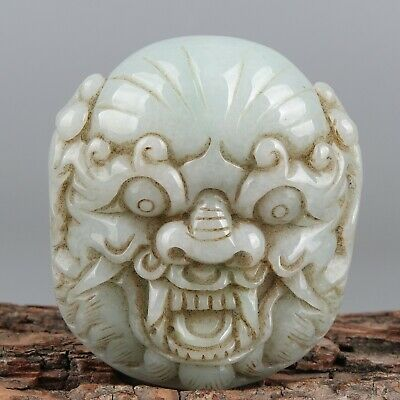 Chinese Exquisite Hand-carved Mythical animal Carving jadeite jade Pendant