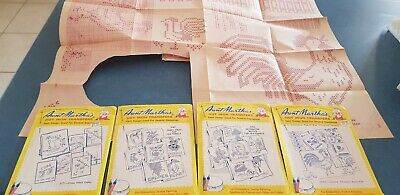 Vintage 4  Mixed Packs Of Aunt Martha's Hot Iron Transfers