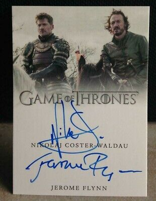Game of Thrones Valyrian Steel Coster-Waldau Flynn Dual Autograph Card AUTO !!!