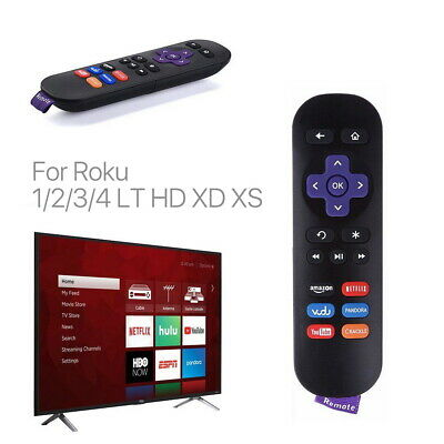 New Replace IR Remote for Telstra TV & TV2 Roku 1 2 3 4 with Netflix Youtube Key