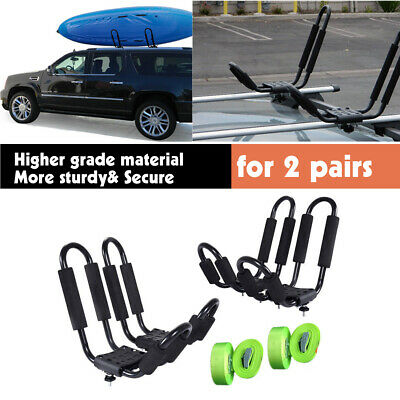 2Pair J Bar Kayak Ski Snowboard Wakeboard Paddleboard Car Top Roof Rack Carrier