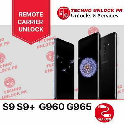 INSTANT! Samsung Galaxy S9 S9+ Unlock Remote Service all carriers