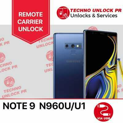INSTANT! Samsung Galaxy Note 9 T-Mobile Unlock Remote Service