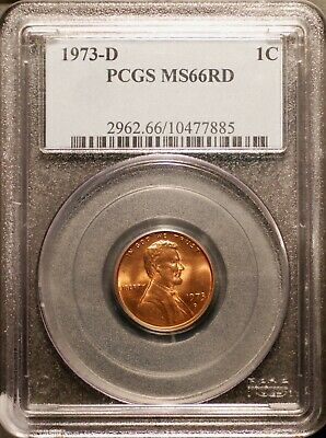 1973-D Lincoln Memorial Cent PCGS MS66 Red   #7885 Free Shipping !