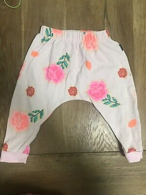 Bonds Baby Girl Floral Track Pants Trackies Roomies Size 1