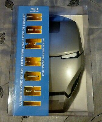 Iron Man 2 Disc Ultimate Edition Blu ray/DVD Mark II Mask FHM Exclusive