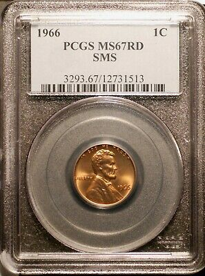 1967 SMS Lincoln Memorial Cent  PCGS MS 67 Red  #1513 Free Shipping