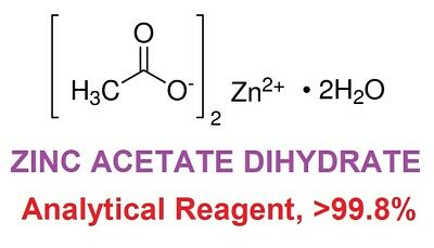 ZINC ACETATE DIHYDRATE, Analytical Reagent >99.8% - 100 grams