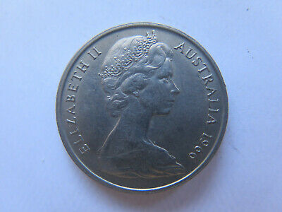 1966 CANBERRA MINT AUSTRALIAN 20 CENT COIN Near UNCIRCULATED CONDITION