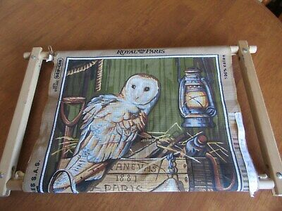 Vintage Royal Paris Tapestry With Owl Made In France