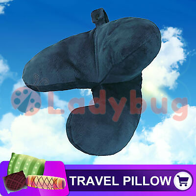 Travel Pillow Flight J Shaped Head Chin Support Neck Pillow Soft For Work Home