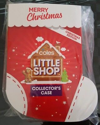 Coles Little Shop Mini Collectables Christmas Edition Case FULL SET Minis