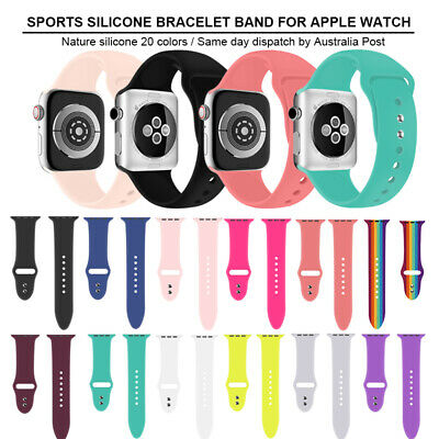 Sports Silicone Bracelet Strap Band For Apple Watch iWatch  38/40/42/44mm Unisex