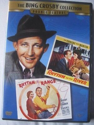 BING CROSBY Collection Double Feature DVD Rhythm on Range / Rhythm on the River