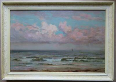 19th Century Antique Indistinctly Initialled Marine OIL PAINTING Seascape Waves