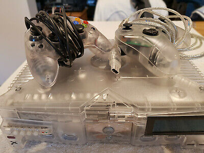 Microsoft Xbox Crystal Pack 8GB Translucent Console, with controllers