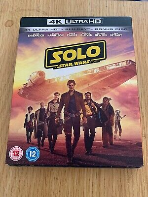 Solo A Star Wars Story - 4k UHD Blu Ray, Blu Ray & Bonus Disk - New and Sealed