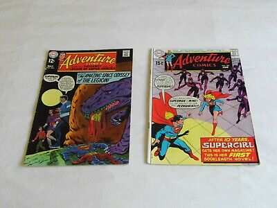 DC AdventureComics numbers 380  and 381 May/June. 1969  12c and 15c in USA