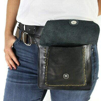 Fanny Pack Leather Waist Bag Unisex Men Women Belly Hip Bag Boho Hippie Bum Bag