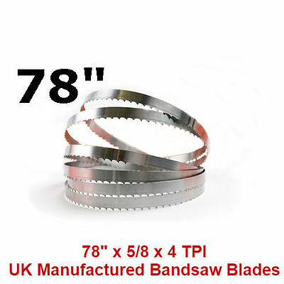 Butchers Meat Bandsaw Blades (5 Pack) - 78""