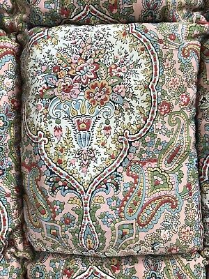 Very Pretty Vintage 1930's Eiderdown Quilt Antique Textiles