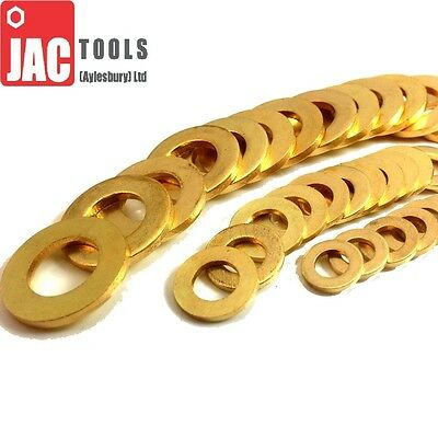 Solid Brass Washers Form A (Thick) M3 M4 M5 M6 M8 M10 M12 M16 For Bolts & Screws