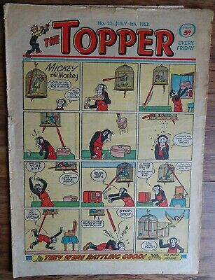 #22 TOPPER COMIC No. 22.   4th JULY 1953.   EARLY EDITION.
