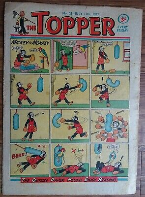 #23 TOPPER COMIC No. 23.   11th JULY 1953.   EARLY EDITION.