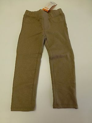 Gymboree Pants Girls Size 2T Brown With Gold Glitter Knit Pants New