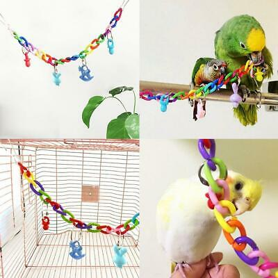Colorful Bird Toy Parrot Swing Cage Toys For Parakeet Cockatiel Budgie-Lovebird
