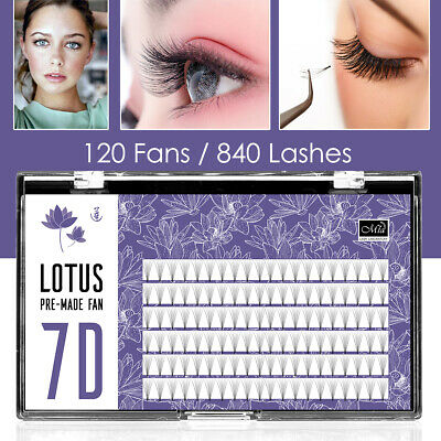 7D Premade Fan Lashes Russia Volume Eyelash Extensions Lotus 2.0 0.07