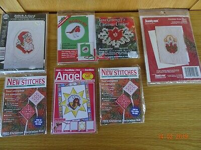 Cross Stitch Christmas Themes Individual  Assorted Packs x 7 job lot