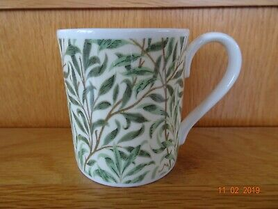 William Morris Green  Willow Boughs Mug Fine Bone China Excellent Condition