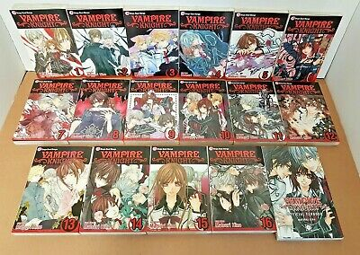 VAMPIRE KNIGHT BOOKS Vol. 1-16 & FANBOOK - Manga Anime - Bundle Collection Set