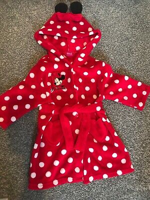 Girls Disney Minnie Mouse Dressing Gown Age 18-24months