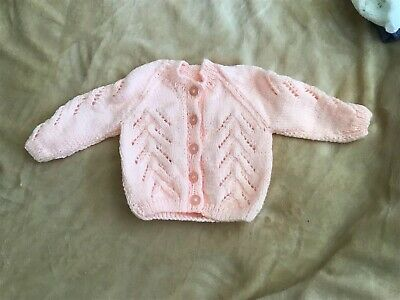 New Pale Peach Hand Knitted Cardigan