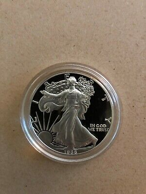 Proof 1988-S American Eagle Silver Dollar 1 oz .999 Silver With Box and COA