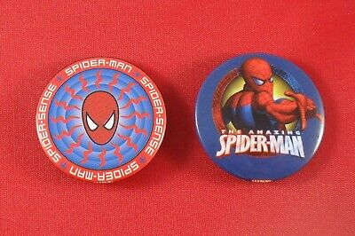 100 x Spiderman Badges Collectable 37mm Badges Job Lot