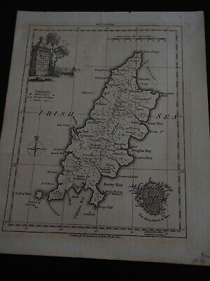 """Antique Map """"The Isle of Man Drawn from the best Authorities by T. Kitchin"""""""