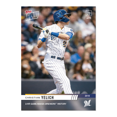 2019 Topps NOW 110 Christian Yelich Milwaukee Brewers [4.20.19]