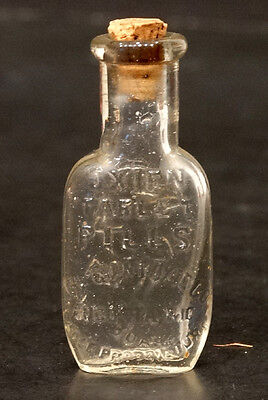 ANTIQUE Vintage OXIEN TABLET Miniature Glass PILL BOTTLE Quack Medicine Cure