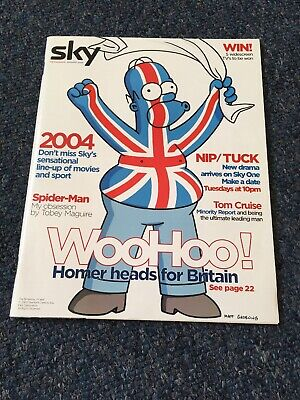 the simpsons sky magazines Excellent Homer 2004