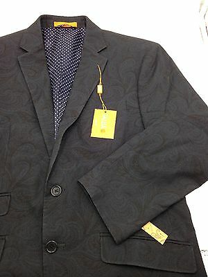 $695 Tallia Men Navy Blue Slim-Fit 2-Button Blazer Suit Jacket Sport Coat 40 S