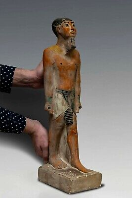 RARE ANCIENT EGYPTIAN Antique EGYPT Big STATUE PTAH Carved STONE 7kg,1500 B.C