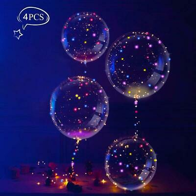 LEEHUR 4 Pcs Ballon LED Lumineux Decoration Lumineuse Ballons en Latex Decoratio