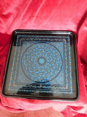 black lacquer tray with nice pattern