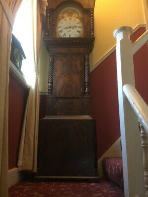 Antique Grandfather Clock Moon Dial