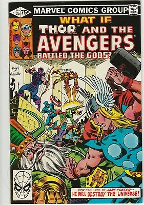 Whaf If  # 25 Feb 1981 Marvel Thor and Avengers Battled the Gods? Rich Buckler