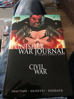 Civil War Punisher War Journal, Hardback Civil War First Printing Graphic Novel