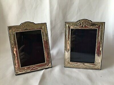 Pair Of Rh Britannia Silver 958 Wooden Backed Picture Frames  2006
